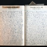 January 27, 1943 Diary Page  (click to enlarge)