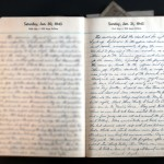 January 31, 1943 Diary Page  (click to enlarge)