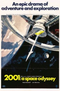 """The Style A poster for the 1968 Stanley Kubrick movie """"2001: A Space Odyssey,"""" done in different sizes, depicts the wheel-shaped Space Station One, is the most common."""