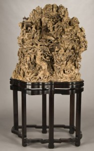 Chinese burl-wood mountain