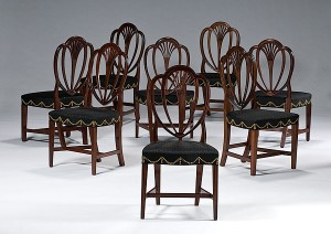 Hepplewhite dining chairs