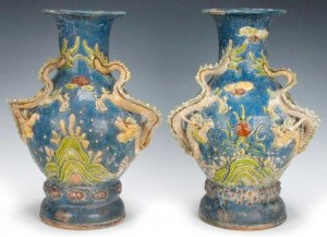 2012 Year of the Dragon vases