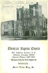 Ebenezer Baptist Church program