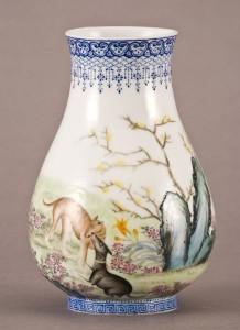 Chinese Republic eggshell vase