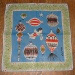 Other holiday handkerchiefs featured reindeer and ornaments, like this one.