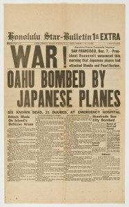 Pearl Harbor attack front page