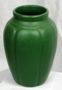 I found this Zanesville matte green vase model 795 on a road trip in Missouri. I'm taking far fewer road trips now that items like this are easier to find on the Internet.