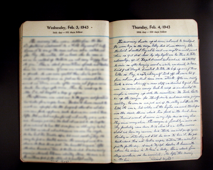 February 4, 1943 Diary Page