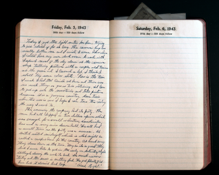 February 5, 1943 Diary Page