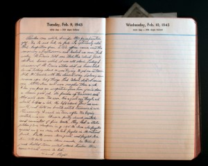 February 9, 1943 Diary Page