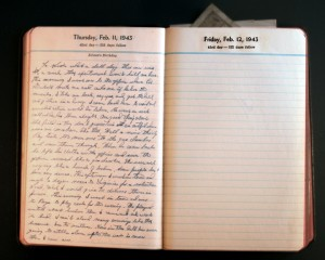 February 11, 1943 Diary Page