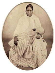 Ahma girl in Bengal antique photo