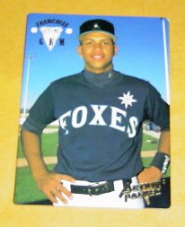 Alex Rodriguez 1994 Foxes card