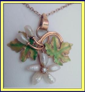 Art Nouveau enamel pendant