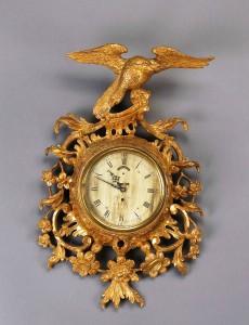 George III giltwood wall clock