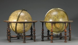 George III terrestial and celestial globes