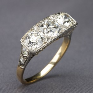 1910 diamond-and-platinum ring