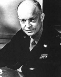 Gen. Dwight D. Eisenhower was selected to command the Allied armies in Europe on this day in 1943. Eisenhower's concept for Allied unity of command and his ability to persuade the British to accept it in lieu of the committee system, to which they were accustomed, allowed the Supreme Allied Command to function as he envisioned. (U.S. National Archives)