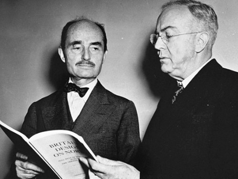 U.S. Attorney General Francis Biddle (left) established prohibited zones forbidden to enemy aliens. German, Italian and Japanese aliens were ordered to leave waterfront areas across the U.S. Eastern seaboard and the West Coast. (U.S. National Archives)