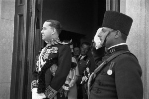 Italy's Benito Mussolini sacked his son-in-law, Count Galeazzo Ciano (left), from the Foreign Ministry and took control himself. (Public Domain)