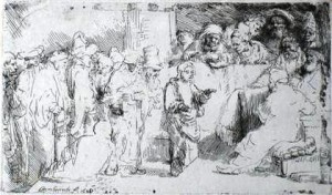 Rembrandt's etching