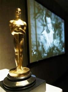 "Orson Welles' Best Writing Oscar from ""Citizen Kane"" when it was up for auction."