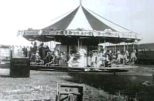 The original Merry-Go-Round at the Lakeside Amusement Park was located outside. It would eventually be housed in three different buildings since the park opened in 1908.