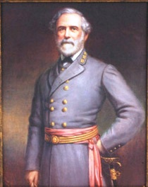 Pine portrait of General Lee