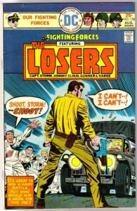 Our Fighting Forces #158. After browsing like a nerdy shark looking for a back-issue to sink my teeth into, I found this one on GoAntiques. I made the purchase, and will report on what I actually bought when it shows up.