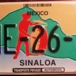 It has only been over the last five years that Mexico has gone from a single-design for all license plates across the country to a new registration system with colorful graphic designs, making Mexico's new license plates, like this one from Sinaloa, much more sought after by collectors.
