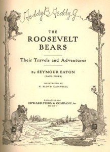 "Title page for ""The Roosevelt Bears,"" 1906."