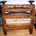 "Washing Machine Wringer: ""Horseshoe Brand"" wringer from 1910; value $125"
