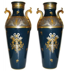 19th-century French porcelain vases