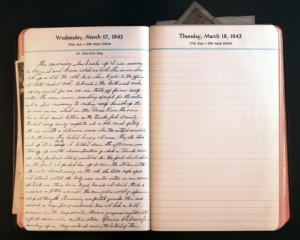 March 17, 1943 Diary Page