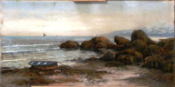 "A painting signed simply with the name ""Chandler"" turns out to have been created by the ""W.H. Chandler and Co."" of New York City. Founded by William Henry Chandler, the company produced paintings for sale in department stores in the late 1800 and early 1900s. Seascapes, like this one, were the rarest of all Chandler pieces, and can sell for upwards of $500 today."