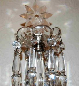 closeup of 1850 Waterford sconces