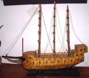 Folk prison art matchstick sailboat