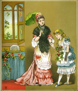 Chromolithograph illustration from Aunt Louisa's Golden Gift, 1879.