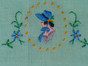 """Her"" Irish linen hand towel"