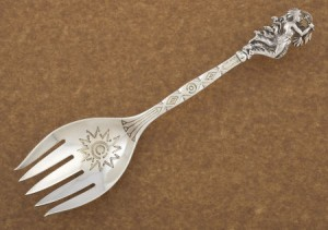 Indian warrior serving fork