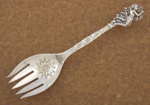 Indian warrior serving fork
