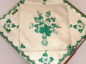 Irish linen tea set
