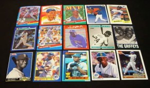 Griffey cards, senior and junior