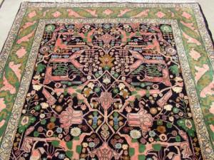 Late 1900s Persian Bijar carpet