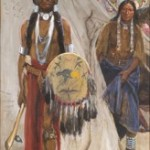 This American Indian scene in gouache, Summoned by the War Chief, by Henry F. Farny sold for $918,000 at a June 17, 2006 auction.