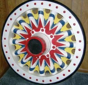 Sunburst circus wheel