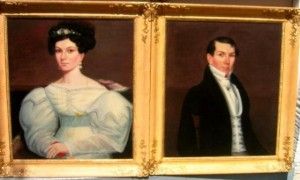 Two portraits attributed to Ammi Phillips