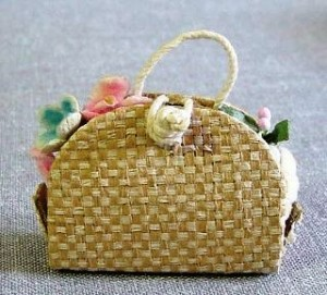 Vintage Barbie straw bag