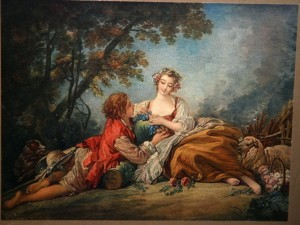 Litho of a 1793 François Boucher painting