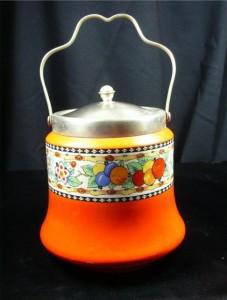 Art Deco period biscuit jar